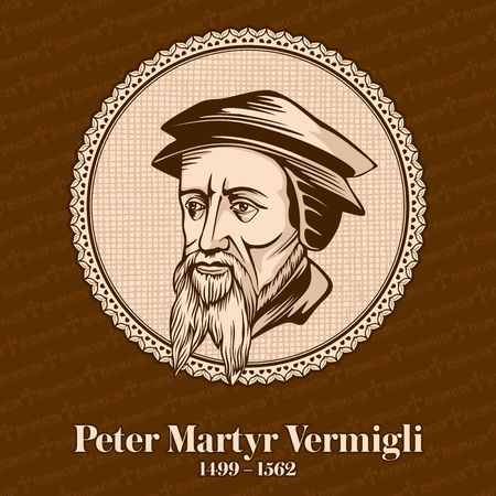 Peter Martyr Vermigli (1499 - 1562) was the Italian-born Reformed theologian. Christian figure. Illustration