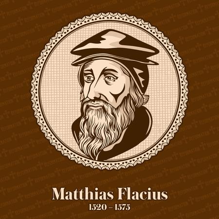 Matthias Flacius (1520 - 1575) was a Lutheran reformer from Istria. Christian figure. Stockfoto - 118117313