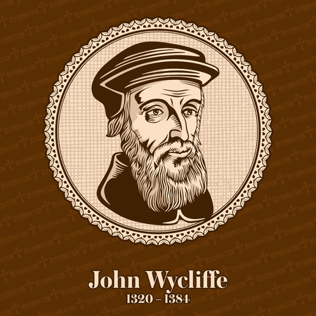 John Wycliffe (1320 - 1384) was an English scholastic philosopher, theologian, Biblical translator, reformer, English priest, and a professor of the University of Oxford. Christian figure. Stockfoto - 118117320