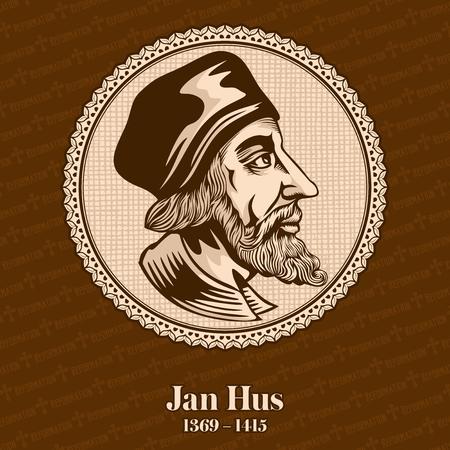 Jan Hus (1369 - 1415) was a Catholic theologian, Catholic priest, christopher, Christian