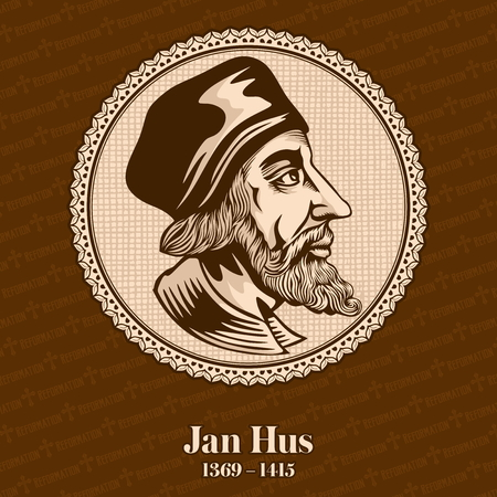 Jan Hus (1369 - 1415) was a Catholic theologian, Catholic priest, christopher, Christian