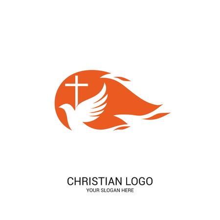 Christian church logo. Bible symbols. The Holy Spirit of God.