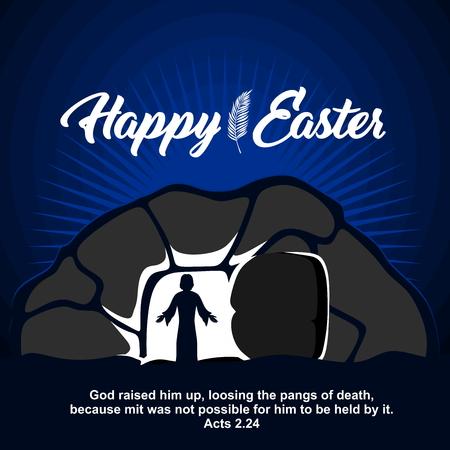 Easter illustration. Jesus Christ is risen. Vecteurs