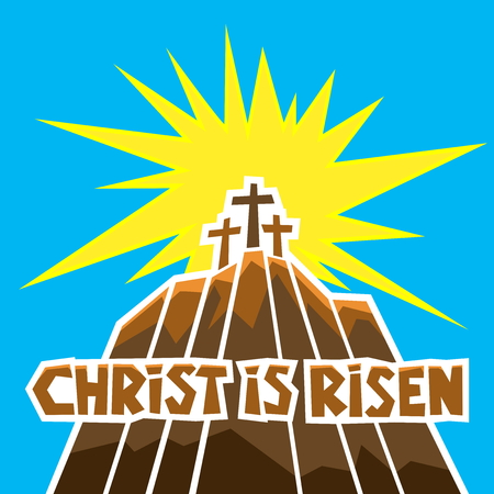 Easter illustration. Jesus Christ is risen.
