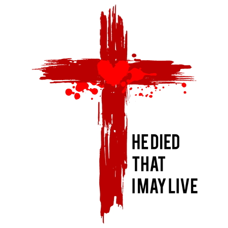 Happy easter illustration. Jesus died that I may live. Stock fotó - 117557038