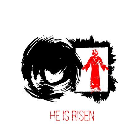 Easter illustration. Jesus Christ is risen. Illusztráció