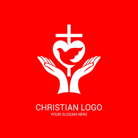 Church logo and biblical symbols. Jesus Christ, The Lord of Christ