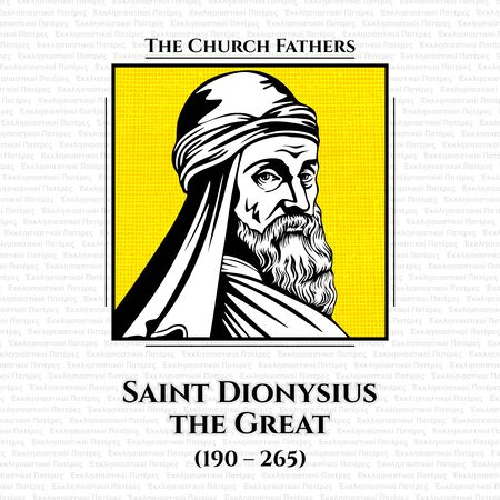 The church fathers. Saint Dionysius the Great (190 - 265) was the 14th Pope and Patriarch of Alexandria until his death on March 22, 264. Catechetical School of Alexandria and was a student of Origen and Pope Heraclas. Stok Fotoğraf - 133288637