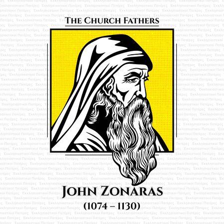 I padri della chiesa. Joannes o John Zonaras (1074 - 1130) era un cronista e teologo bizantino che visse a Costantinopoli. Sotto l'imperatore Alessio I Comneno ricoprì le cariche di capo della giustizia e segretario privato dell'imperatore.