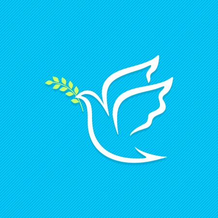 Dove, a symbol of peace and purity. The biblical symbol of the Holy Spirit.