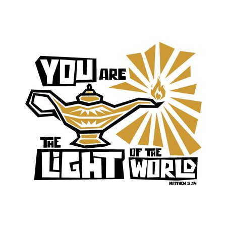 Christian typography, lettering and illustration. You are the light of the world.
