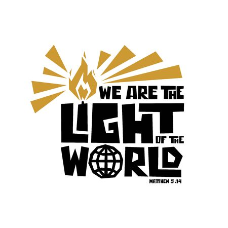 Christian typography, lettering and illustration. We are the light of the world.