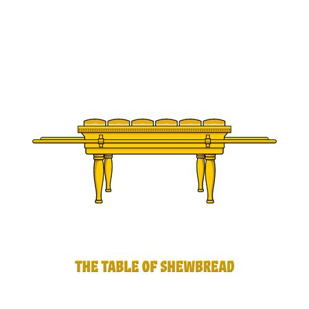 Offer bread table in the tabernacle and temple of Solomon. A ritual object in the rites of the Jewish religion.