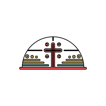 Church logo. Christian symbols. Cross of the Lord and Savior Jesus Christ. 免版税图像 - 151685851