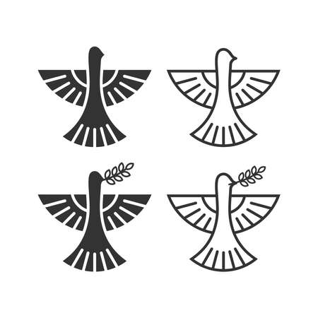 Dove, a symbol of peace and purity. The biblical symbol of the Holy Spirit. 免版税图像 - 158863636