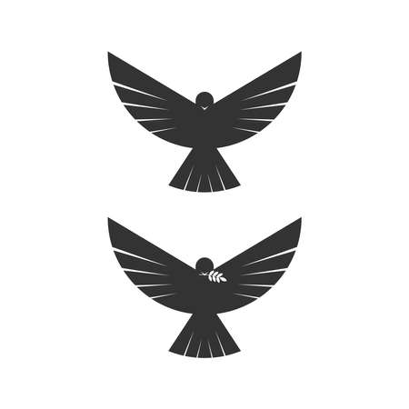 Dove, a symbol of peace and purity. The biblical symbol of the Holy Spirit. 免版税图像 - 158863647