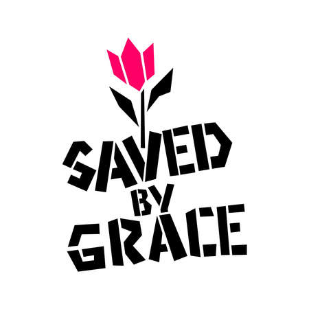Christian illustration. Saved by Grace.