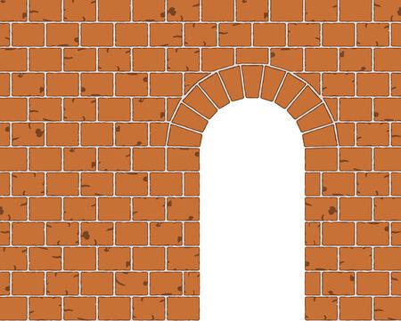 raum weiss: Alte Steinbogen Eingang mit Leerraum Illustration
