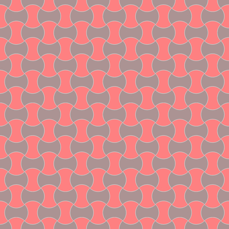 Grey and red cement paver bricks pattern