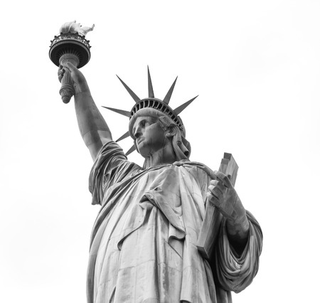 Statue of Liberty on a white Stock Photo - 27874720
