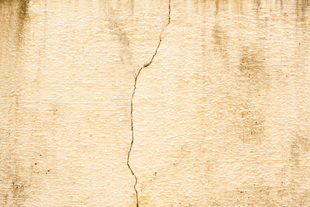 plastered: Old cement plastered wall that is cracked  Stock Photo