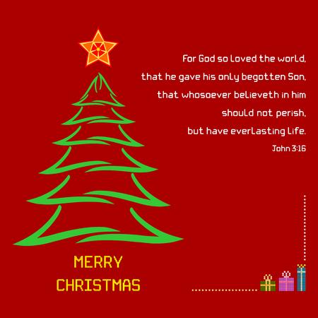 Christmas holy bible verse john 316 a christmas greeting with christmas holy bible verse john 316 a christmas greeting with brush stroke tree m4hsunfo