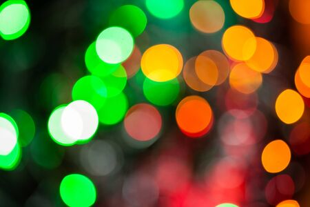Christmas lights color bokeh - A bright multicolor bokeh background created by a set of de-focused Christmas lights.