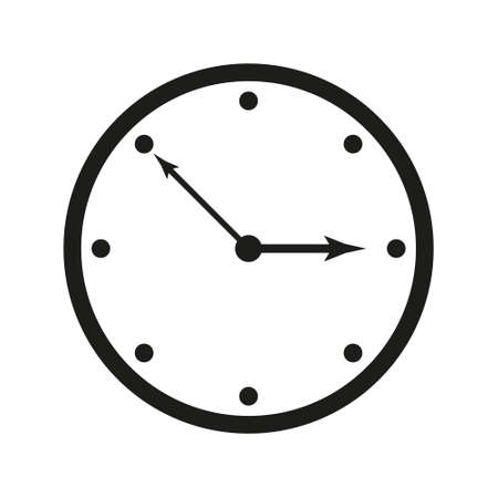 Clock icon. Simple clock icon. Wind clock icon. Clock icon isolated on white background.
