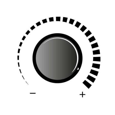 Volume knob vector icon. Volume knob on white background. Simple volume knob icon. Vector Illustratie