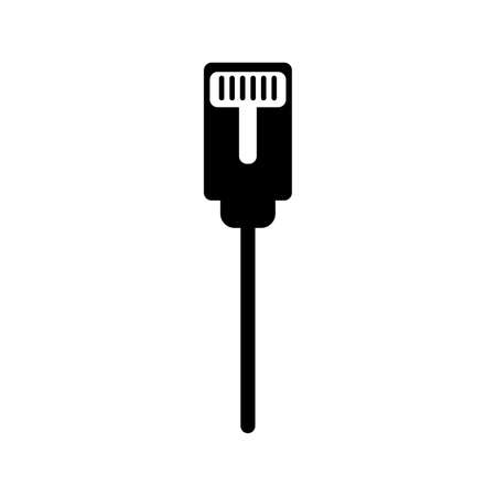 Vector icon of internet cable.