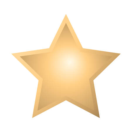 Gold star icon. Vector gold star icon in flat style. Golden star icon Isolated on white background. Star in gold style. Vector illustration. Vettoriali