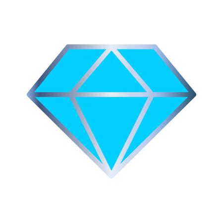 Diamond icon. Diamond vector icon isolated on white background. Silver cut diamond icon. Vector illustration.