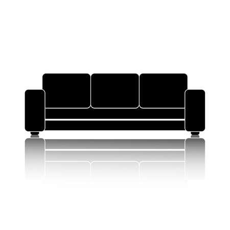 Sofa icon. Vector sofa icon in flat style. Trendy sofa icon on white background. Sofa interior icon. Vector illustration. Vector Illustration