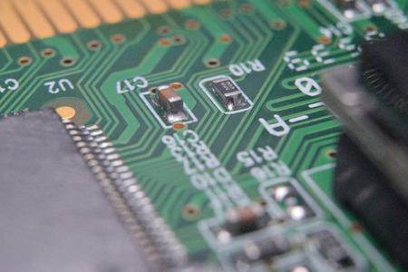 close up of electronic components on pcb board Reklamní fotografie