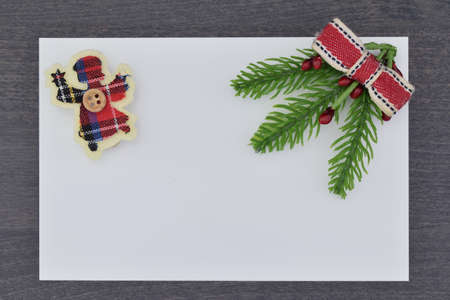 close up of a christmas decoration with copy space