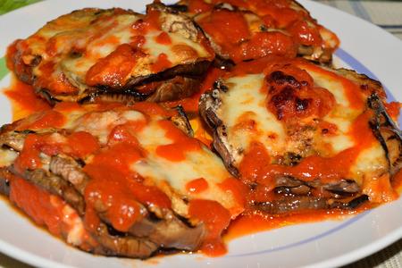 Close up of a delicious italian parmigiana Foto de archivo