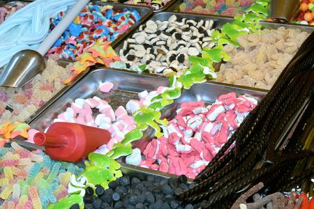 various colorful kinds of many kid candies Reklamní fotografie
