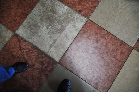Background, texture, floor tiles in two colors, square