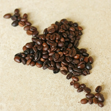 Heart of coffee beans photo