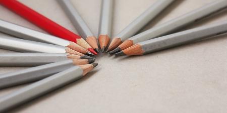 Pencils row photo