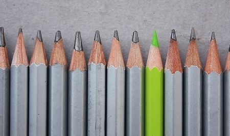 Pencils row Stock Photo - 13900482