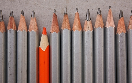 Pencils row Stock Photo - 13900505