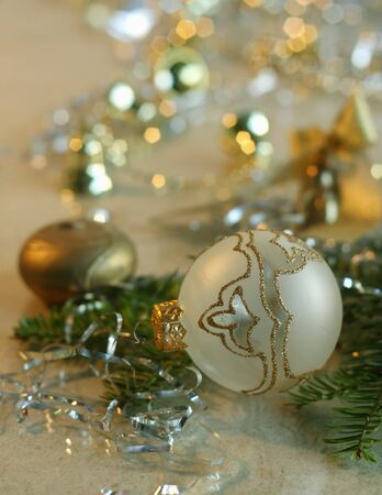 Background of Christmas decorations