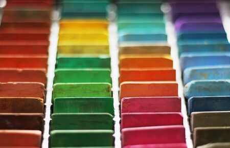 Color chalk pastels photo