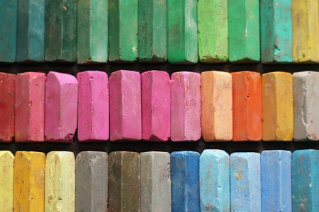 creativeness: Color chalk pastels