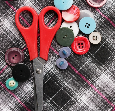 Color threads with buttons Stock Photo - 16460973