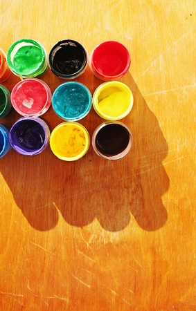 creativeness: Color paints Stock Photo