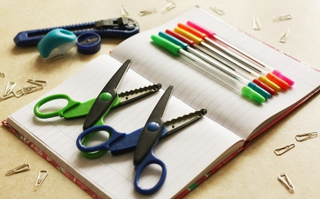 Color office tools Stock Photo - 17984173