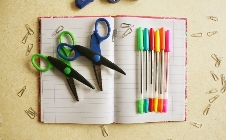 Color office tools Stock Photo - 17984227