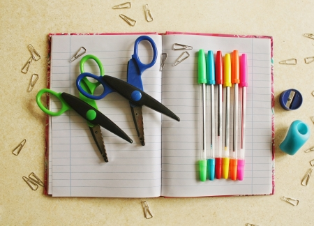 Color office tools Stock Photo - 17984138